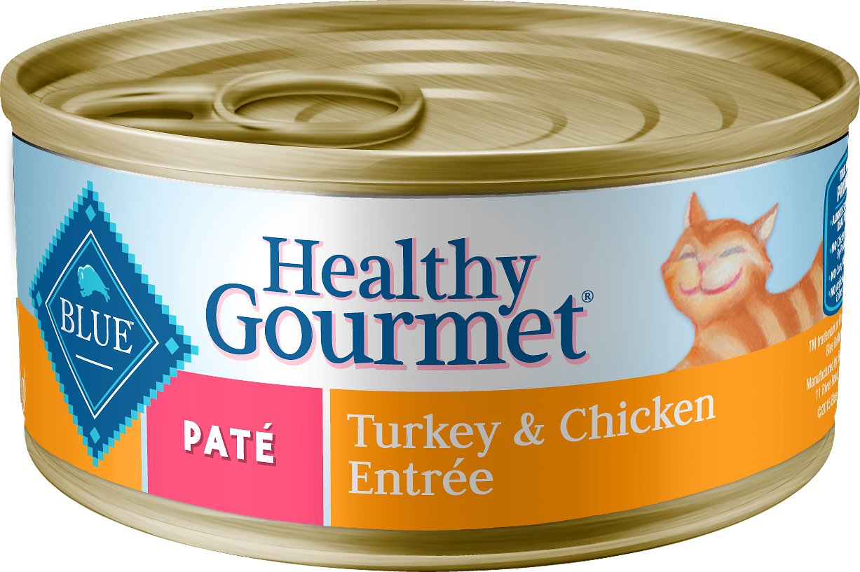 Blue Buffalo Healthy Gourmet Pate Turkey & Chicken Entree Adult Canned Cat Food, 5.5-oz