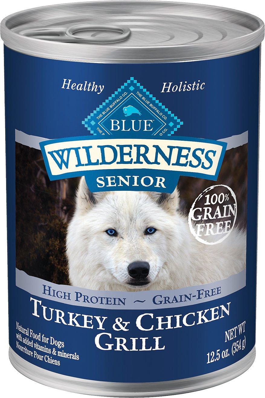 Blue Buffalo Wilderness Turkey & Chicken Grill Grain-Free Senior Canned Dog Food Image