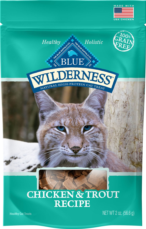 Blue Buffalo Wilderness Chicken & Trout Grain-Free Cat Treats, 2-oz bag