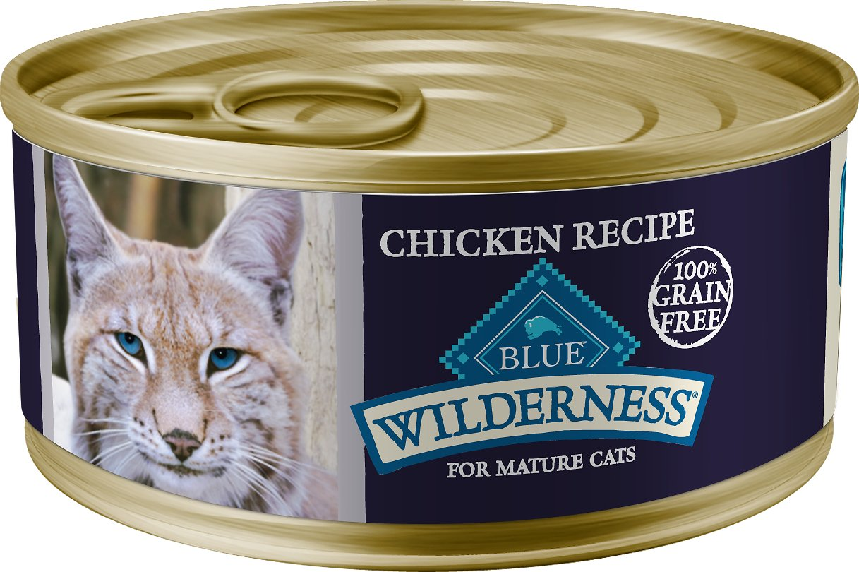 Blue Buffalo Wilderness Mature Chicken Recipe Grain-Free Canned Cat Food Image