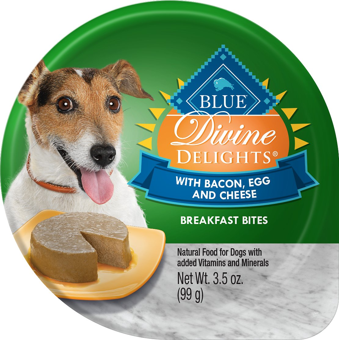Blue Buffalo Divine Delights Bacon, Egg & Cheese Pate Dog Food Trays, 3.5-oz