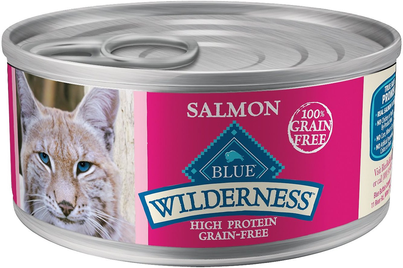 Blue Buffalo Wilderness Salmon Grain-Free Canned Cat Food Image