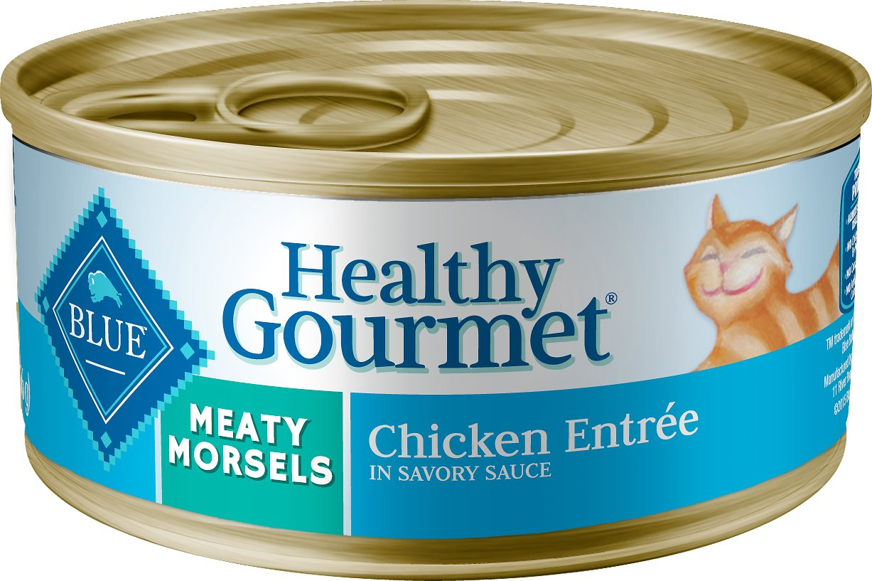 Blue Buffalo Healthy Gourmet Meaty Morsels Chicken Entree Canned Cat Food, 5.5-oz