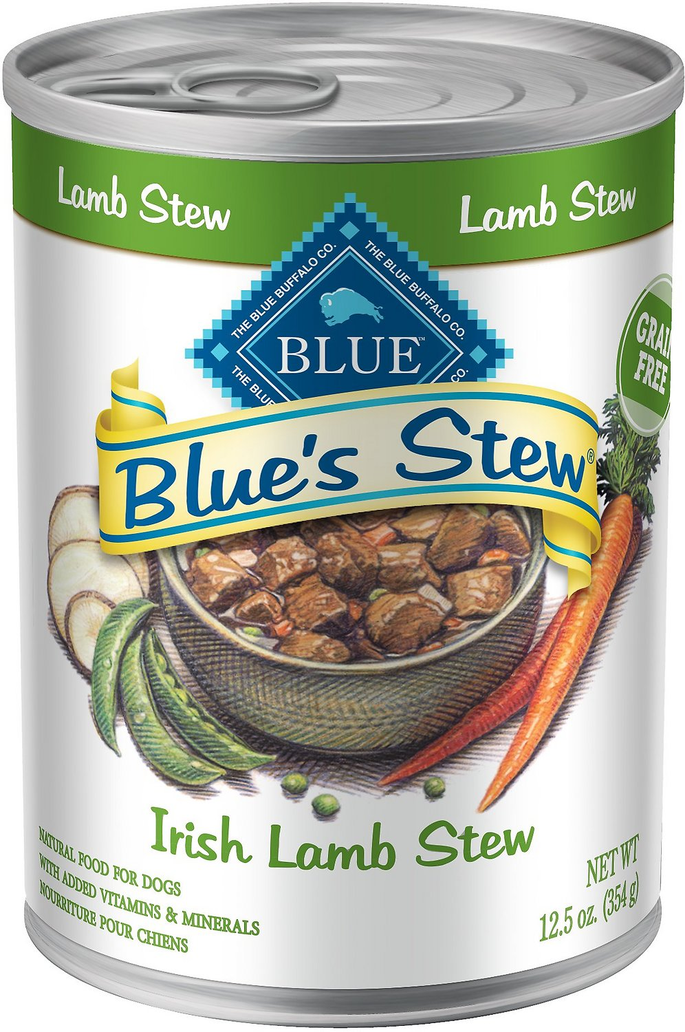 Blue Buffalo Blue's Irish Lamb Stew Grain Free Canned Dog Food, Image