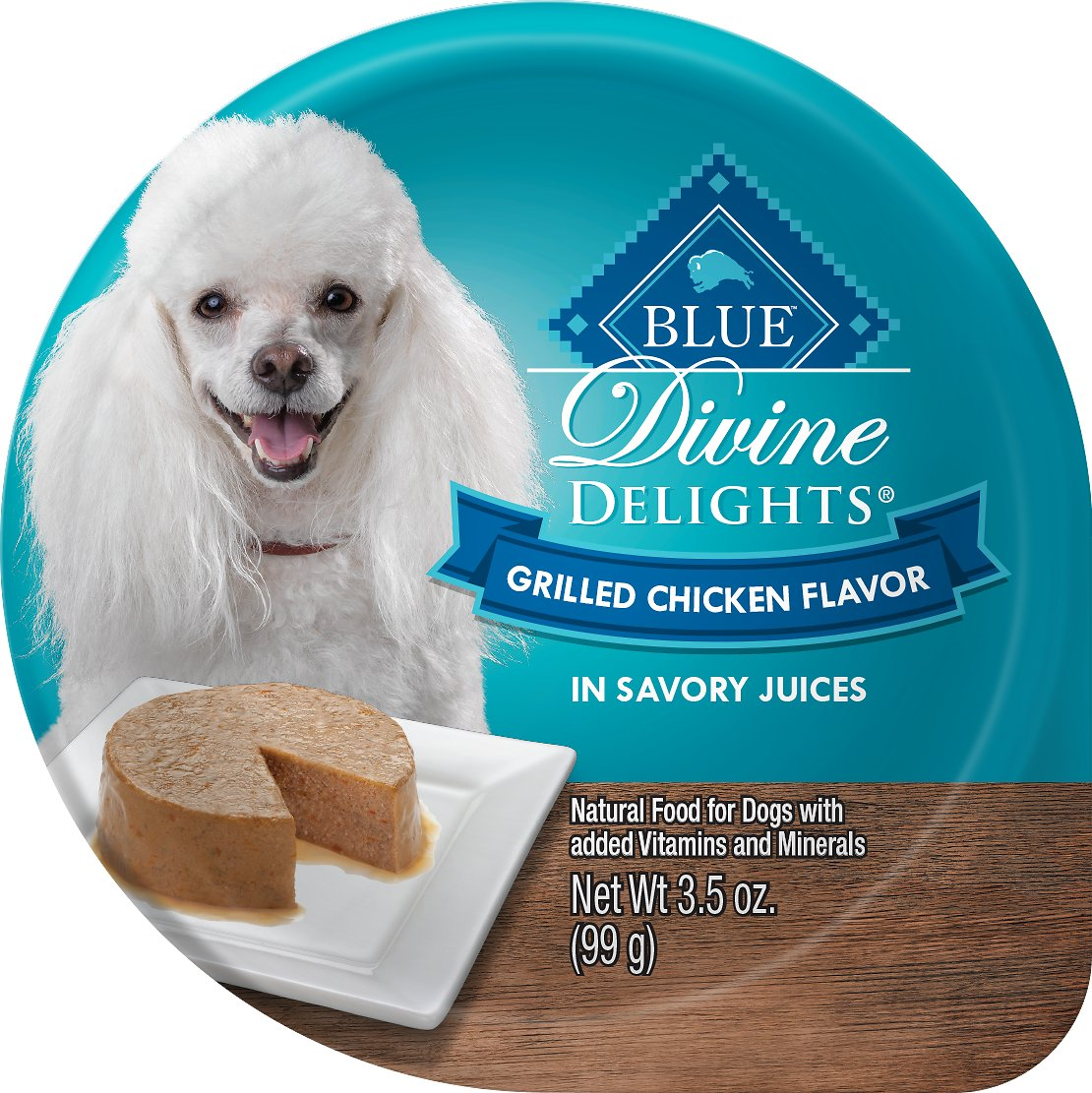 Blue Buffalo Divine Delights Grilled Chicken Flavor Pate Dog Food Trays, 3.5-oz