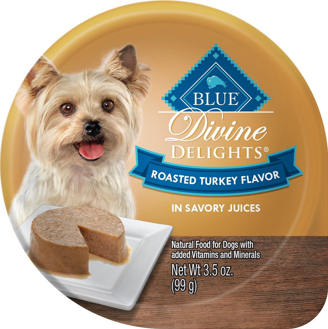 Blue Buffalo Divine Delights Roasted Turkey Flavor Pate Dog Food Trays Image