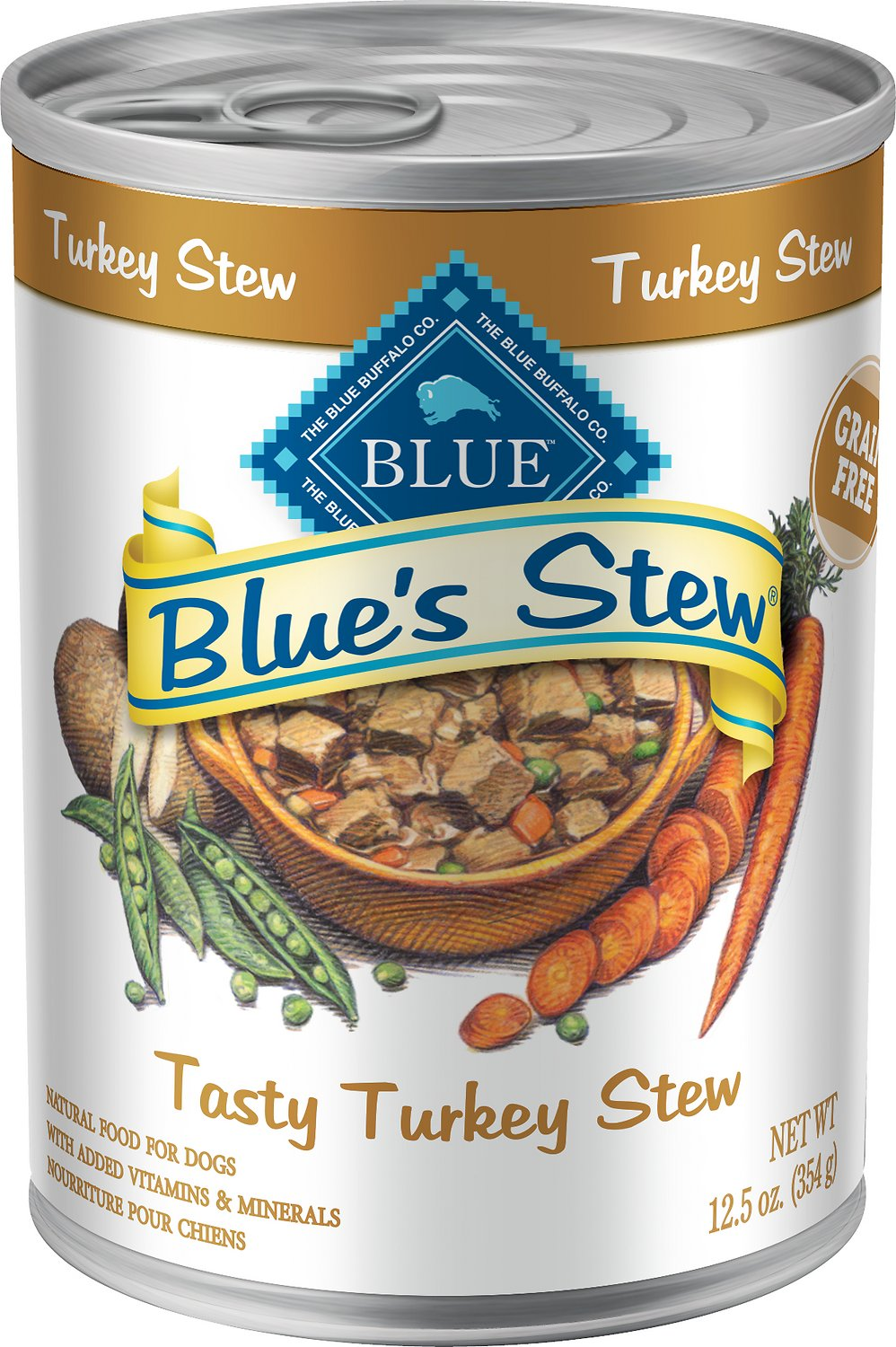 Blue Buffalo Blue's Tasty Turkey Stew Grain Free Canned Dog Food, Image