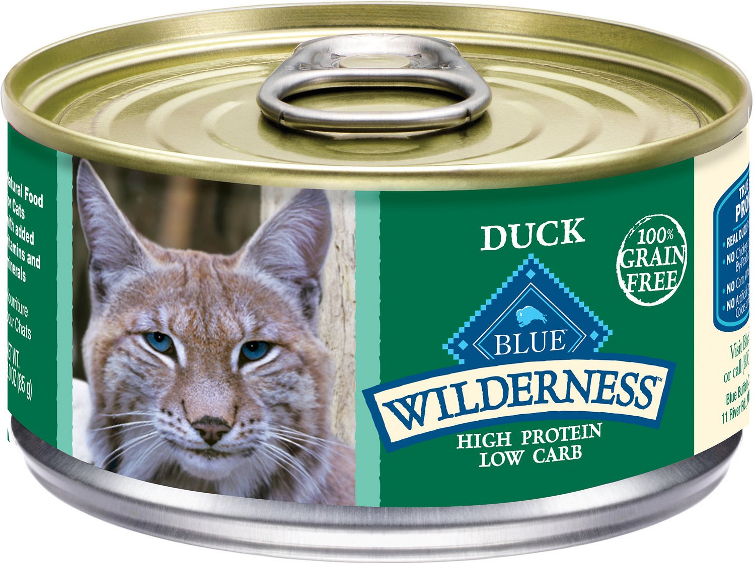 Blue Buffalo Wilderness Duck Grain-Free Canned Cat Food Image