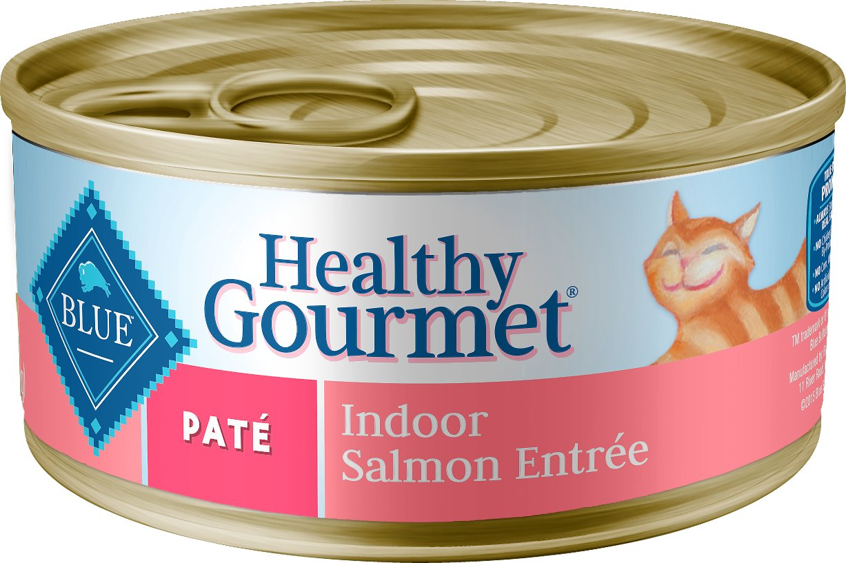 Blue Buffalo Healthy Gourmet Pate Salmon Entree Indoor Adult Canned Cat Food, 5.5-oz
