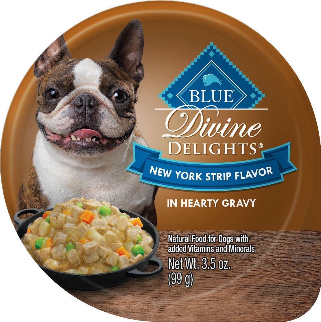 Blue Buffalo Divine Delights New York Strip Flavor Hearty Gravy Dog Food Trays Image