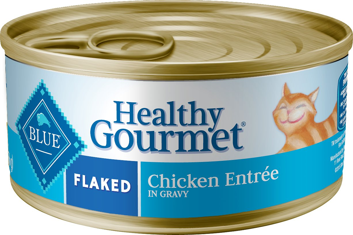 Blue Buffalo Healthy Gourmet Flaked Chicken Entree in Gravy Canned Cat Food, 3-oz