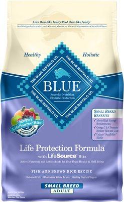 Blue Buffalo Life Protection Formula Small Breed Adult Fish & Brown Rice Recipe Dry Dog Food, 6-lb bag