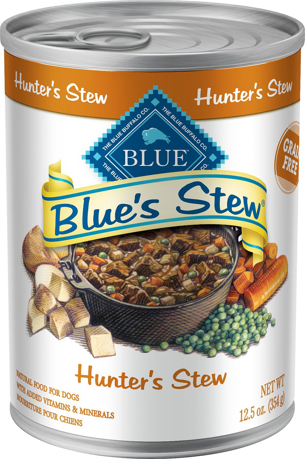 Blue Buffalo Blue's Hunter's Stew Grain Free Canned Dog Food, 12.5-oz Image
