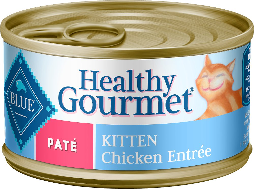 Blue Buffalo Healthy Gourmet Pate Kitten Chicken Entree Canned Cat Food Image