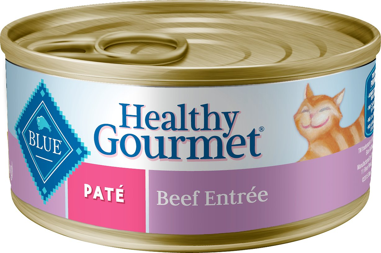 Blue Buffalo Healthy Gourmet Pate Beef Entree Adult Canned Cat Food, 5.5-oz