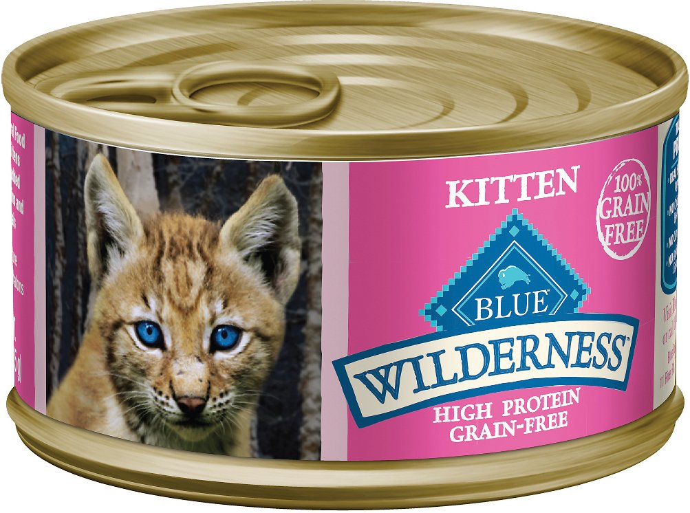 Blue Buffalo Wilderness Kitten Salmon Grain-Free Canned Cat Food Image