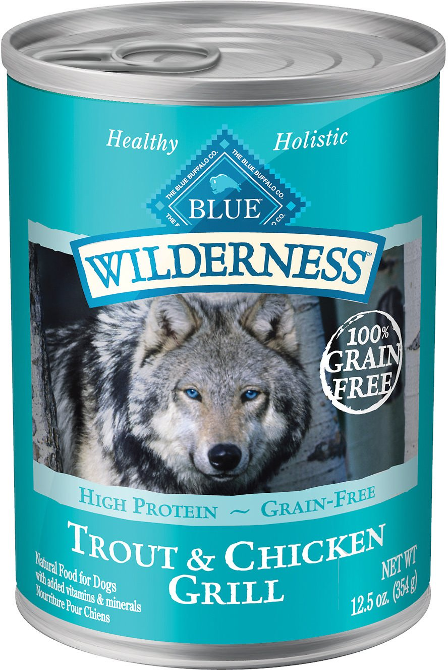 Blue Buffalo Wilderness Trout & Chicken Grill Grain-Free Canned Dog Food Image