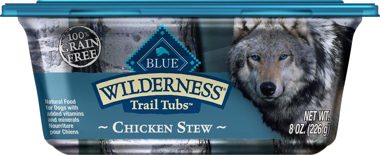 Blue Buffalo Wilderness Trail Tubs Chicken Stew Grain-Free Dog Food Trays Image