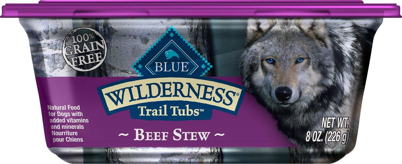 Blue Buffalo Wilderness Trail Tubs Beef Stew Grain-Free Dog Food Trays Image