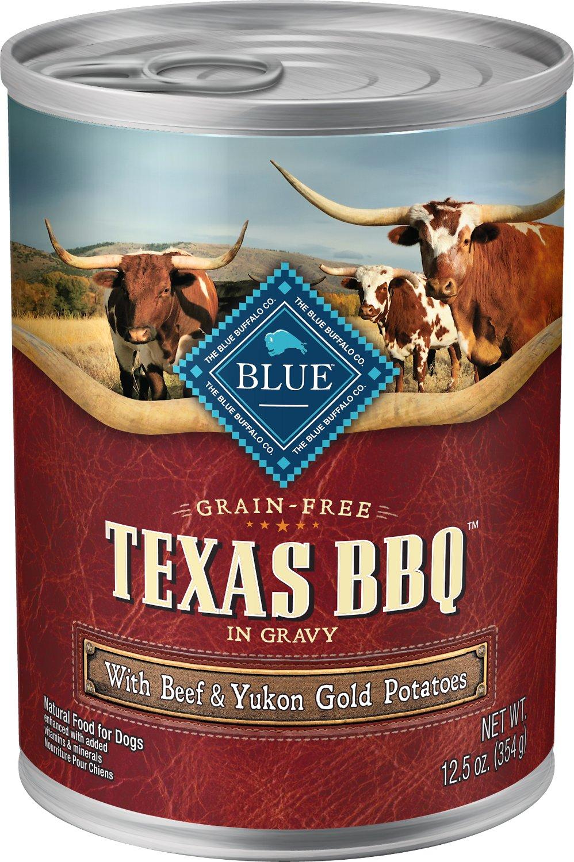 Blue Buffalo Texas BBQ with Beef & Yukon Gold Potatoes Grain-Free Canned Dog Food, 12.5-oz