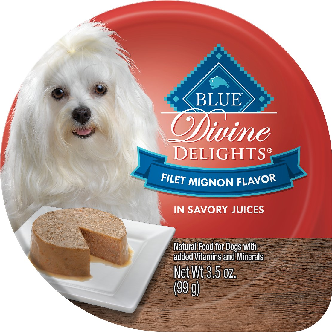 Blue Buffalo Divine Delights Filet Mignon Flavor Pate Dog Food Trays Image