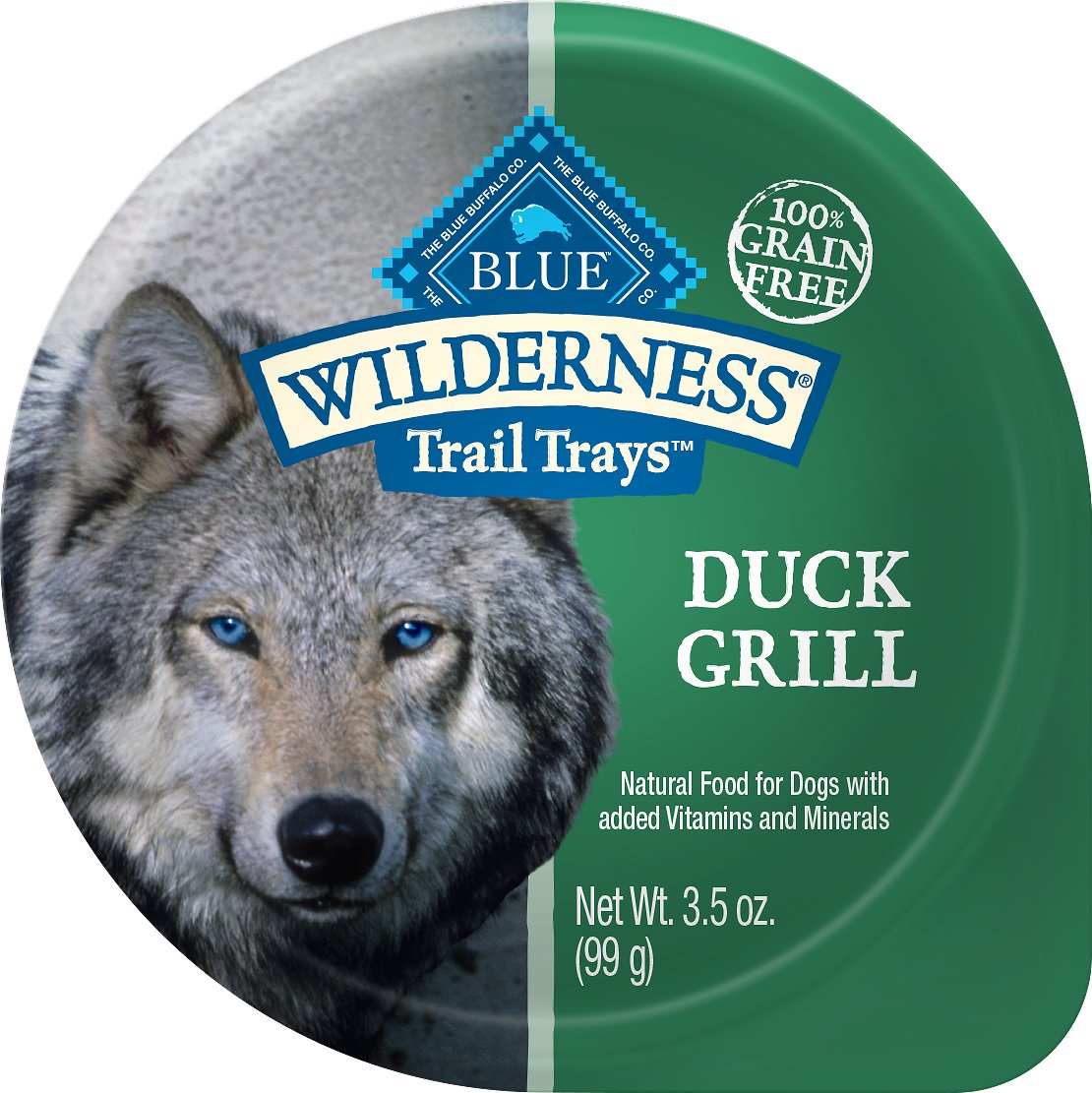 Blue Buffalo Wilderness Trail Trays Duck Grill Formula Grain-Free Dog Food Trays, 3.5-oz