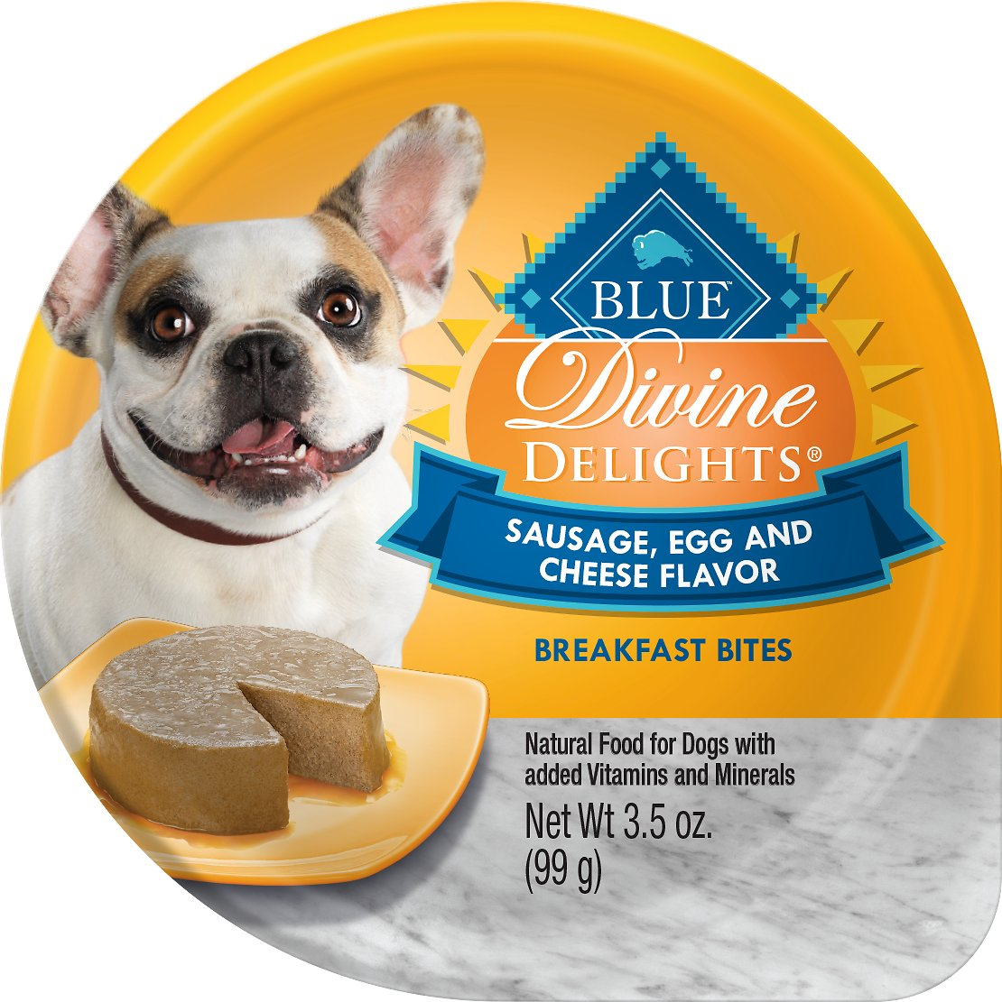 Blue Buffalo Divine Delights Sausage, Egg & Cheese Flavor Pate Dog Food Trays Image