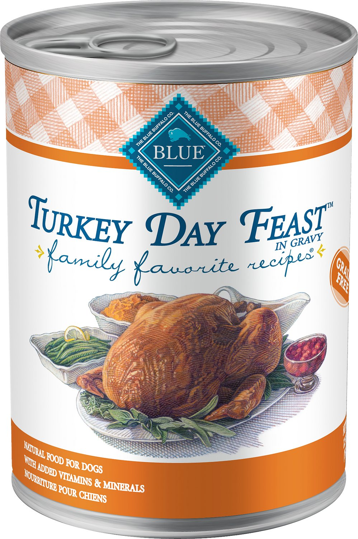 Blue Buffalo Family Favorite Grain-Free Recipes Turkey Day Feast Canned Dog Food, 12.5-oz