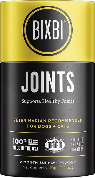 BIXBI Organic Pet Superfood Joints Daily Dog & Cat Supplement, 2.12-oz jar