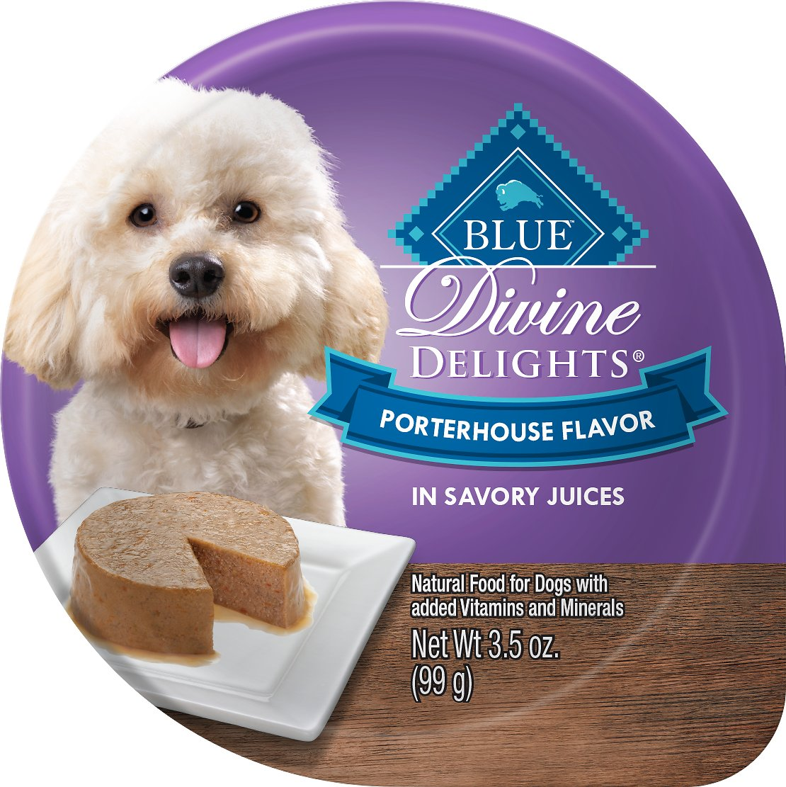 Blue Buffalo Divine Delights Porterhouse Flavor Pate Dog Food Trays Image