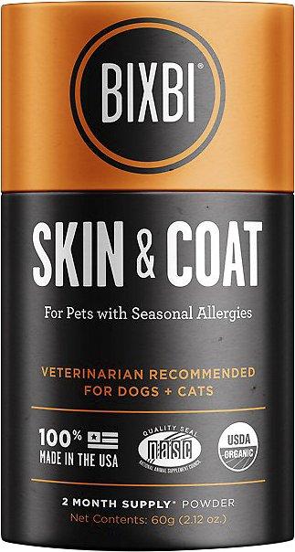 BIXBI Organic Pet Superfood Skin & Coat Daily Dog & Cat Supplement, 2.12-oz jar (Weights: 2.12ounces) Image