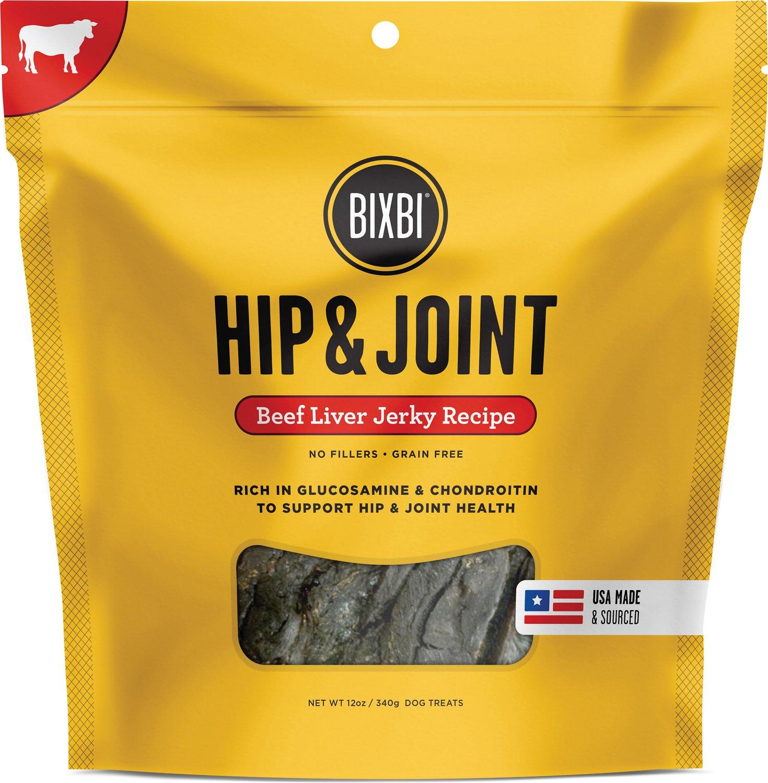 BIXBI Hip & Joint Beef Liver Jerky Recipe Dog Treats Image