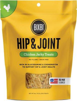 BIXBI Hip & Joint Chicken Jerky Dog Treats, 5-oz