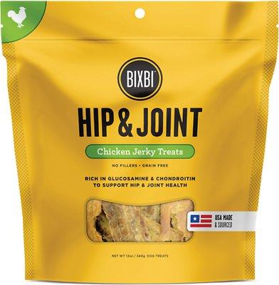 BIXBI Hip & Joint Chicken Jerky Dog Treats, 12-oz bag