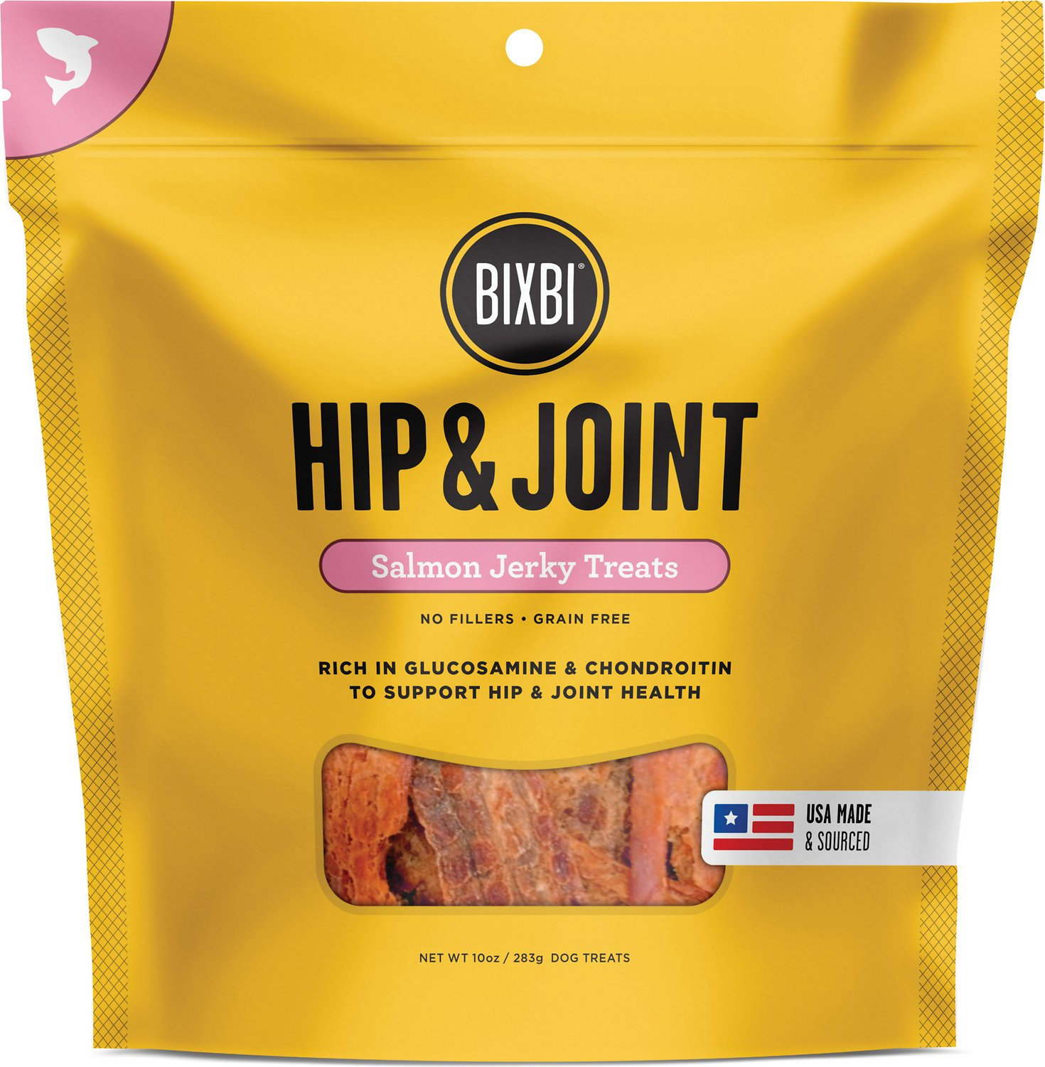 BIXBI Hip & Joint Salmon Jerky Dog Treats, 5oz