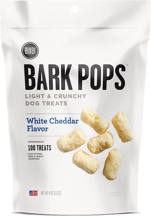 BIXBI Bark Pops White Cheddar Flavor Light & Crunchy Dog Treats, 4-oz bag Image