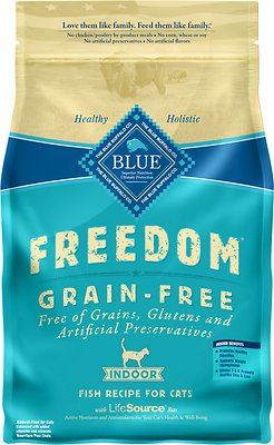 Blue Buffalo Freedom Indoor Adult Fish Recipe Grain-Free Dry Cat Food, 5-lb bag