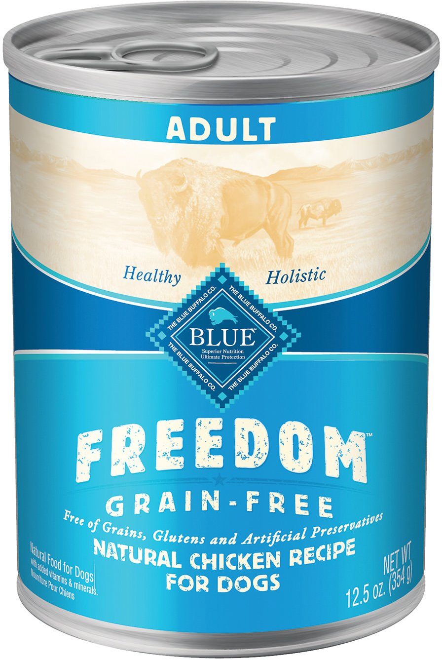 Blue Buffalo Freedom Adult Chicken Recipe Grain-Free Canned Dog Food, 12.5-oz