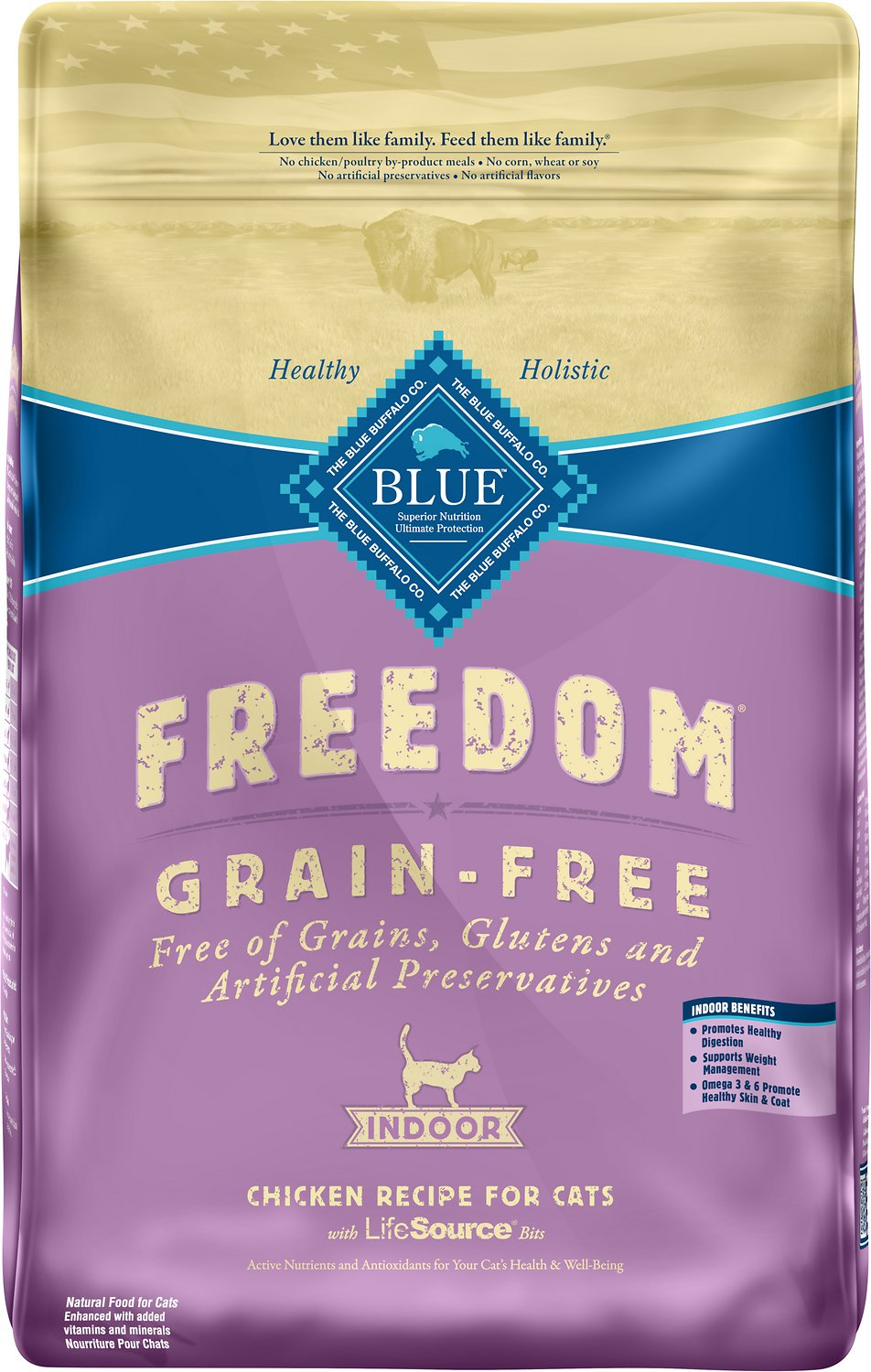 Blue Buffalo Freedom Indoor Adult Chicken Recipe Grain-Free Dry Cat Food Image