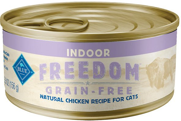 Blue Buffalo Freedom Indoor Adult Chicken Recipe Grain-Free Canned Cat Food, 3-oz