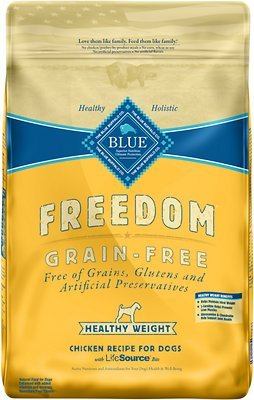 Blue Buffalo Freedom Adult Healthy Weight Chicken Recipe Grain-Free Dry Dog Food, 24-lb bag