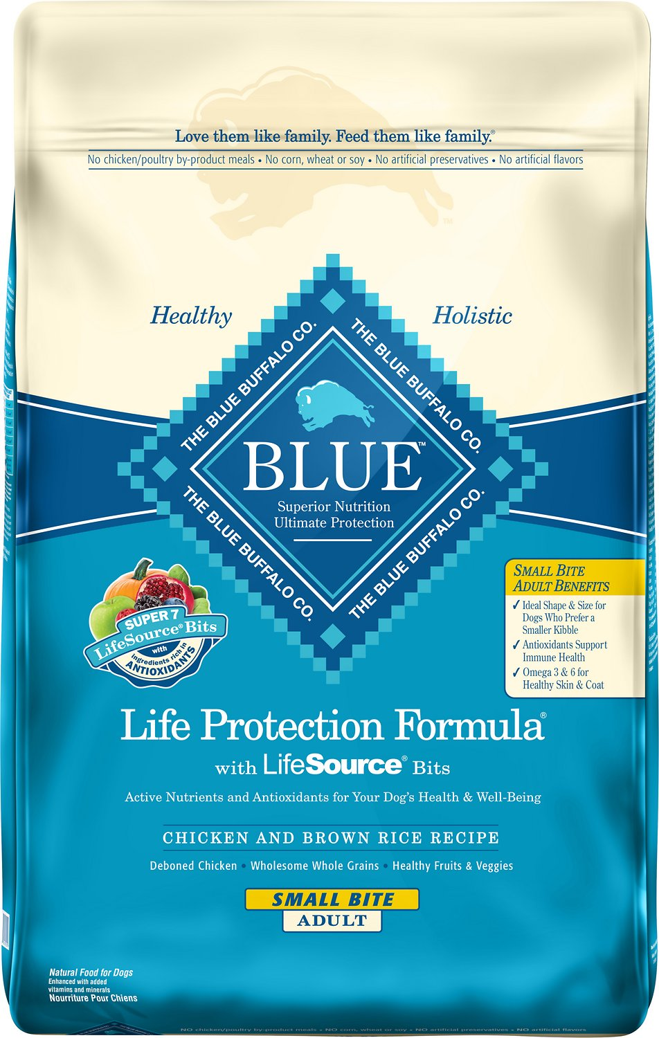 Blue Buffalo Life Protection Formula Small Bite Adult Chicken & Brown Rice Recipe Dry Dog Food Image