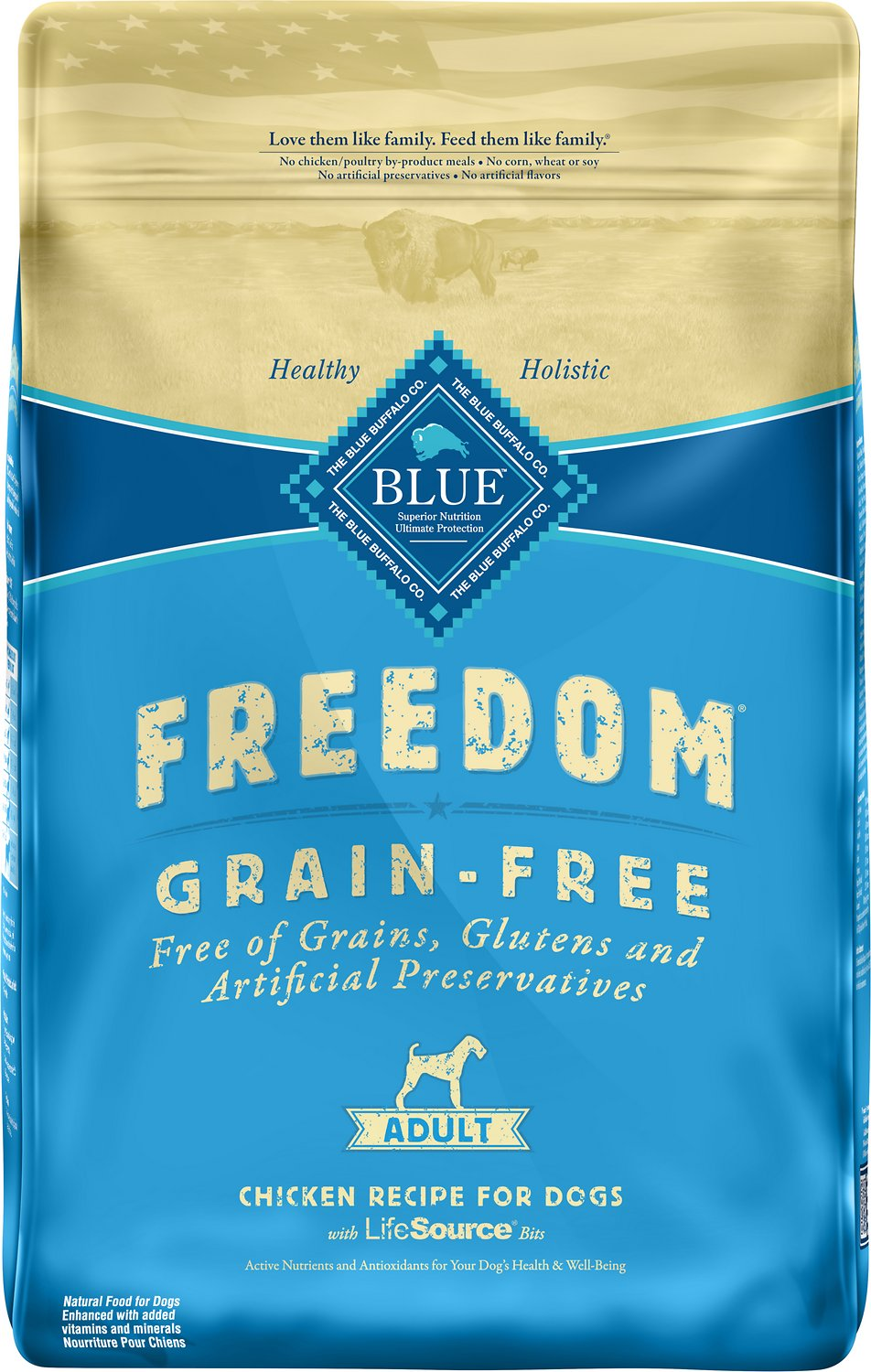 Blue Buffalo Freedom Adult Chicken Recipe Grain-Free Dry Dog Food Image