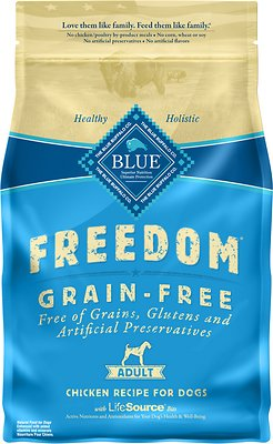 Blue Buffalo Freedom Adult Chicken Recipe Grain-Free Dry Dog Food, 4-lb bag