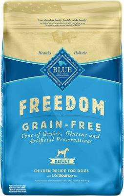 Blue Buffalo Freedom Adult Chicken Recipe Grain-Free Dry Dog Food, 11-lb bag