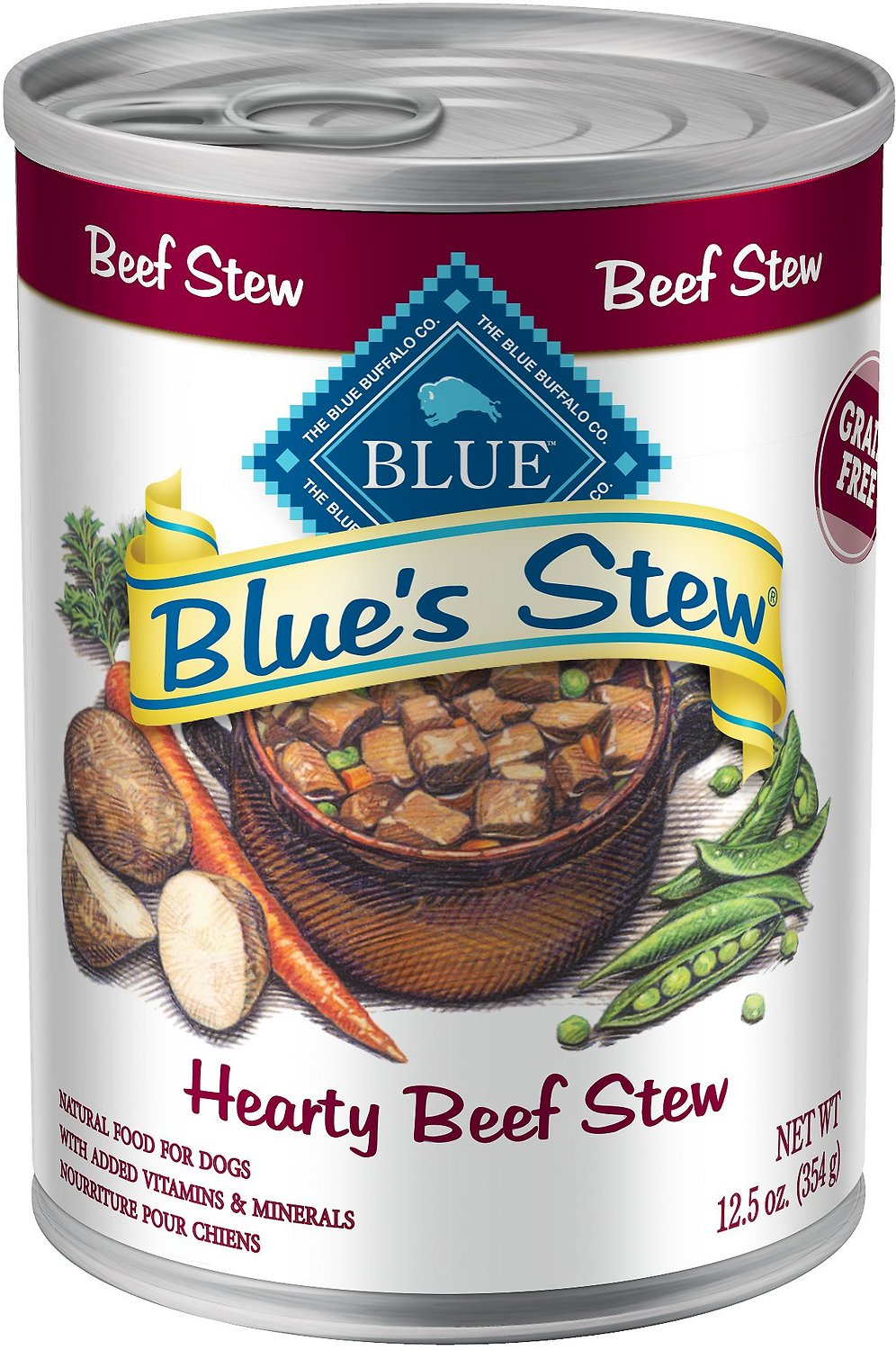 Blue Buffalo Blue's Hearty Beef Stew Grain Free Canned Dog Food Image