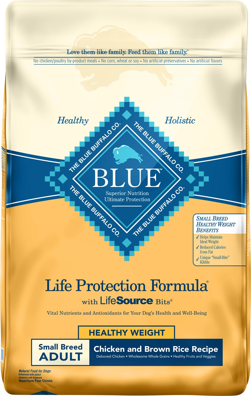 Blue Buffalo Life Protection Formula Small Breed Healthy Weight Adult Chicken & Brown Rice Recipe Dry Dog Food Image