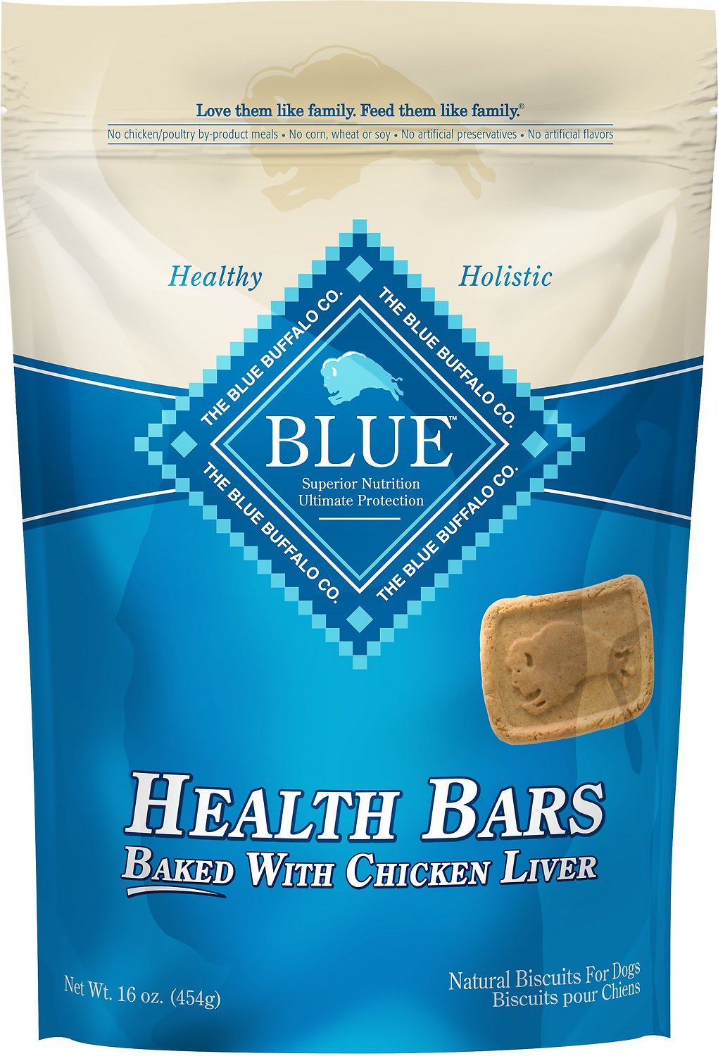 Blue Buffalo Health Bars Baked with Chicken Liver Dog Treats, 16-oz bag