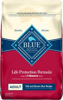 Blue Buffalo Life Protection Formula Adult Fish & Brown Rice Recipe Dry Dog Food, 30-lbs