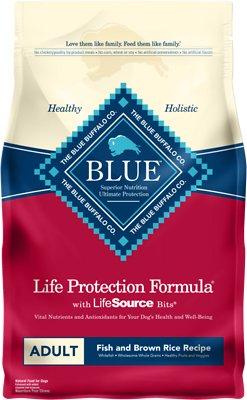Blue Buffalo Life Protection Formula Adult Fish & Brown Rice Recipe Dry Dog Food, 6-lb bag
